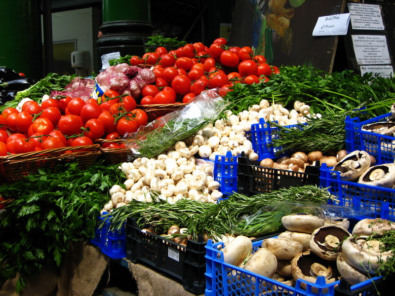 Surrey's fresh-food markets are attractive for visitors